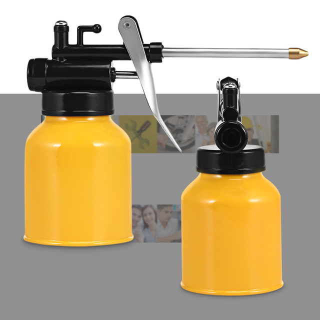 250g Oil Pot Grease Spray Gun High Pressure Hand Oiler Pump Hose Machine For Storing Lubricating / Engine Oil Portable Hand Tool