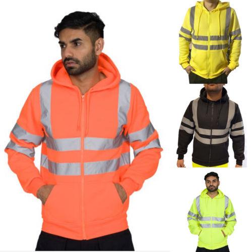Hoodies & Sweatshirts Temperate Men Fireworker Style Zipper Hooded Sweatshirt Jacket Jumper Zipper Fleece Hoodie Work Casual Warm Hoody Sweatshirts Reliable Performance