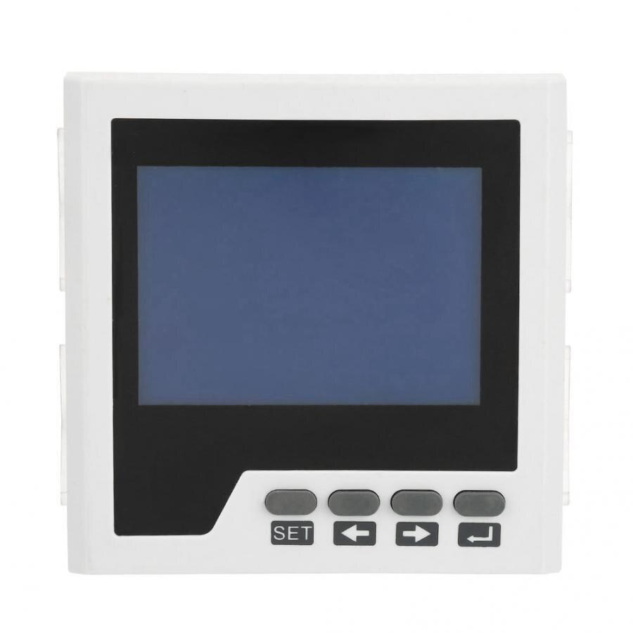 Moniteur de puissance AC 400 V/5A Instrument électrique ampèremètre de puissance triphasé numérique Intelligent compteur triphasé wattmètre numérique