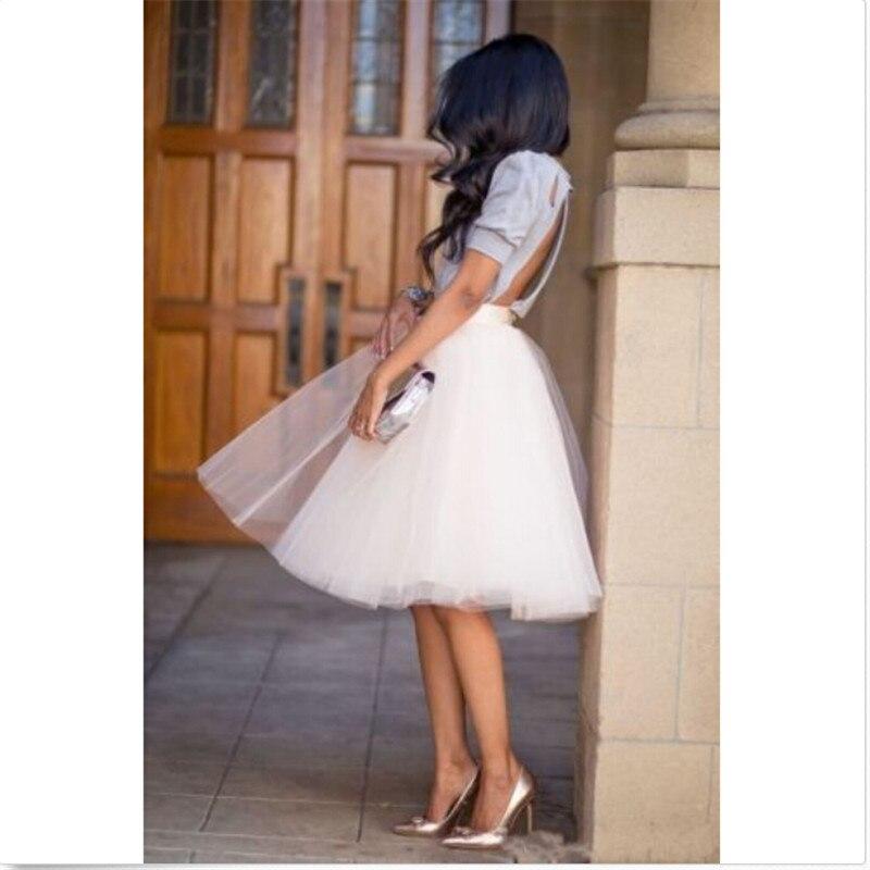 Women Sweet Skirts Donna Tutu Tulle Ad A Gonne Corto Ballo Festa Serale Sottoveste Abito
