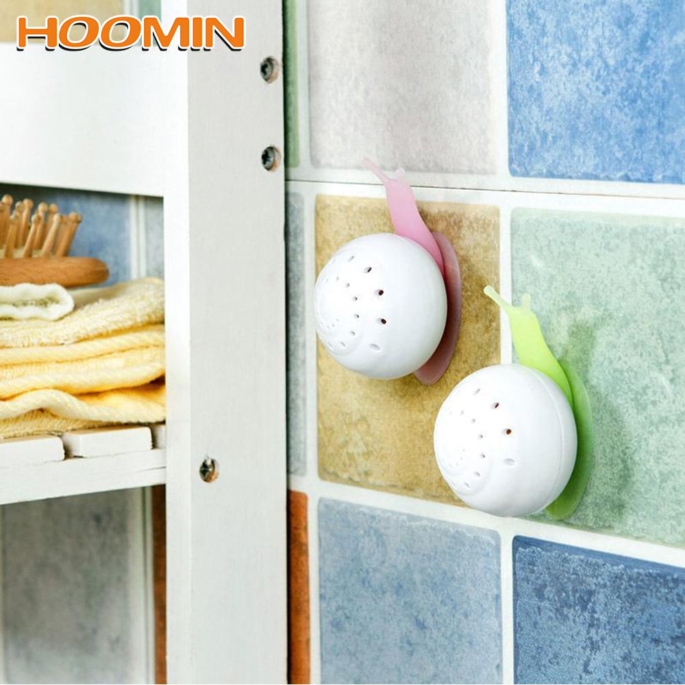 HOOMIN Houseware Air Freshener Perfume Snail Shaped Cute Solid Air Freshener Suction Cup Wardrobe For Home Bathroom