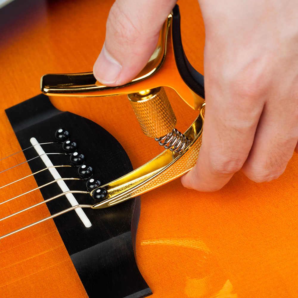 2019 Qiaolejiang GGC-02 אבץ סגסוגת MaterialGuitar קאפו כלי נגינה אבזר עבור גיטרה אקוסטית/חשמלי גיטרות/Ukulele