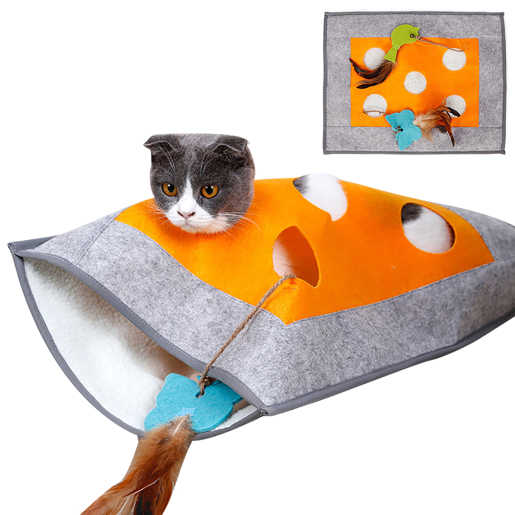 Cat Tunnel Sleeping Bag Creative Breathable Warm Cat Nest Pet Sleeping Bed Puzzle Cat Toy For Kittens image