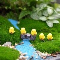 Cisne Cavalo Pato Golfinho Mini Resina Estatuetas de Jardim Microlandschaft Configuração Miniaturas 5 pçs/set Frango DIY Kawaii|Estatuetas e miniaturas| |  -