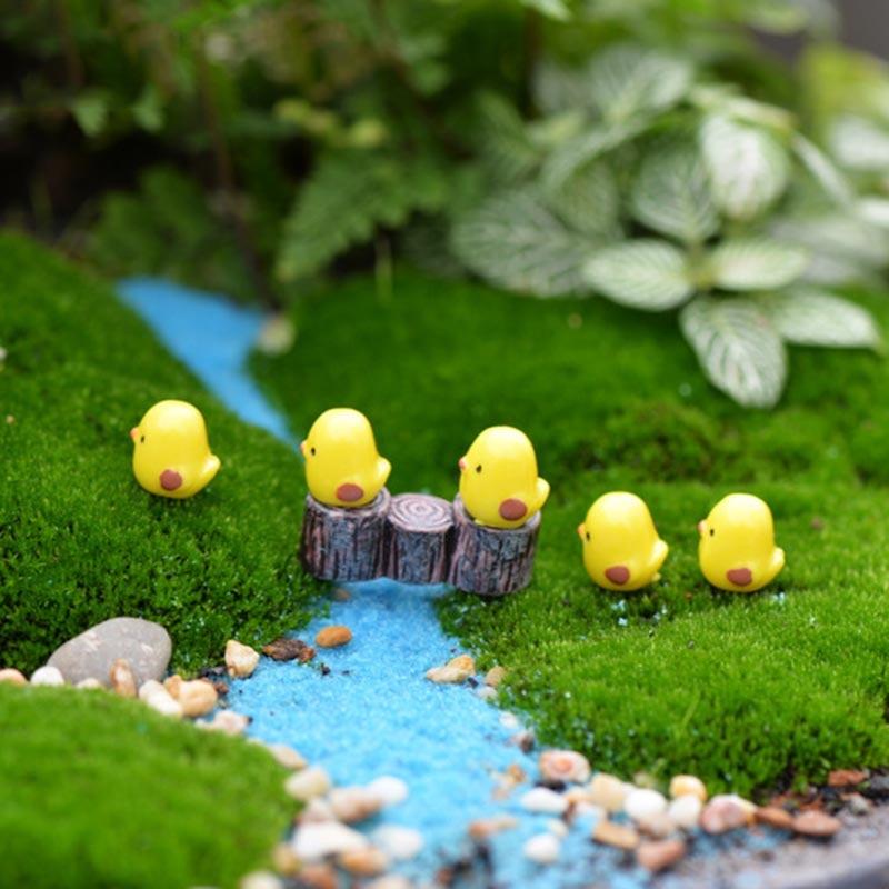 Swan Horse Duck Dolphin Mini  Resin  Garden Figurines  Microlandschaft Setting Miniatures 5PCS/Set DIY Chicken Kawaii