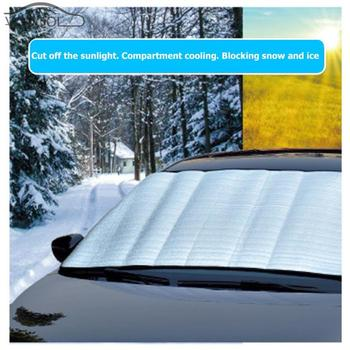 150 * 70cm Universal Car Auto Front Windshield Winter Snow Ice Shield Windscreen Sunshade Dust Frost Freezing Car Cover image