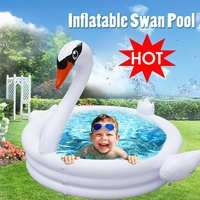 Large Swan Swimming Pool Inflatable for Adults Baby Kids Summer Water Paddling Pool Bathtub Circles Float Pool Toys Hot Summer