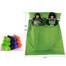Сверхлегкий Открытый спальный мешок лайнер портативный хлопок спальные мешки для кемпинга путешествия здоровый отдых пеший Туризм YHSD01