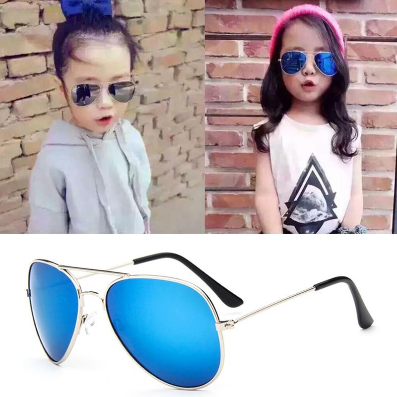 Retro Children Kids Pilot Sunglasses Eyewear Shades Outdoor Eye Glasses Boys Girls Holiday Sports Travel Party Students