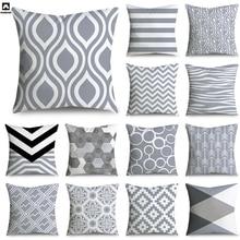 Microfine Чехлы для подушки Серый Декоративные Наволочки Старинные Декоративные Подушки Home Décor