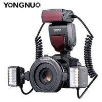 YONGNUO YN24EX YN24 EX макро кольцо вспышка E-TTL Вспышка Speedlite с 2 шт. флэш-головки 4 шт. переходные кольца для камер Canon EOS