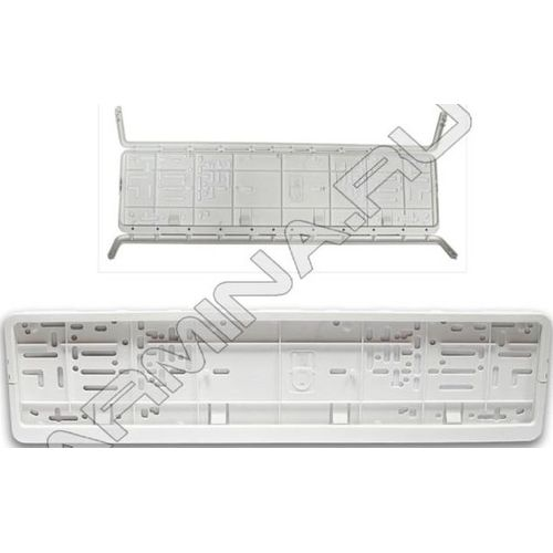 License plate frame ГЛАВДОР Euro with a snap-two прижима, +/-50 C, white (53894) led acrylic light box frameless snap frame advertising brand showcase