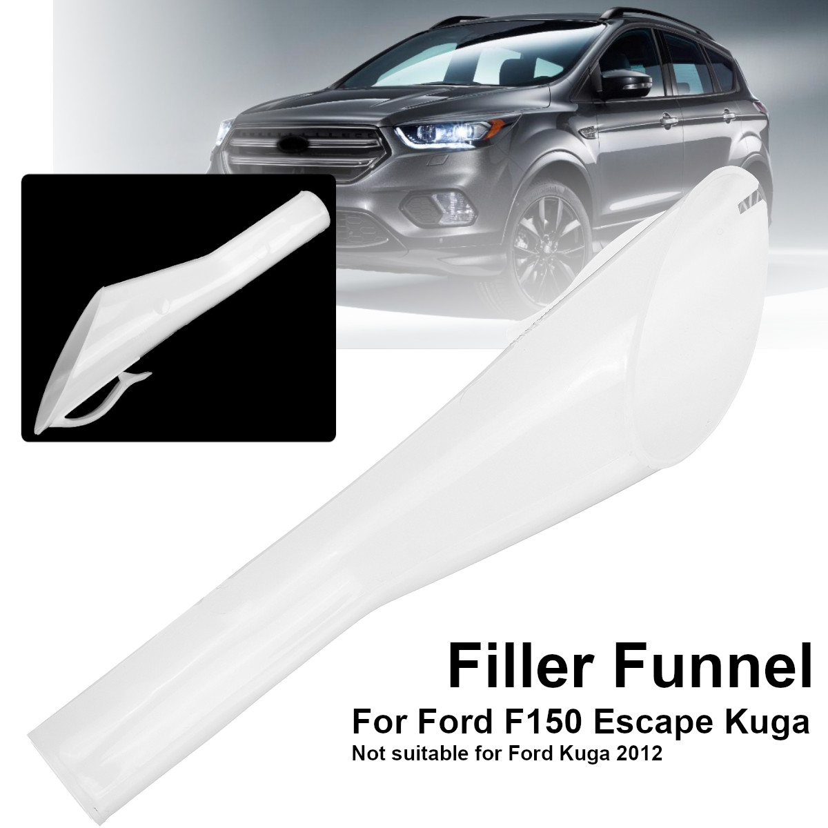 Car Petrol Oil Filler Funnel Fuel Refueling Tool Car Fuel Filters For Ford Escape /Kuga Pick Up F150 /Mondeo 2008