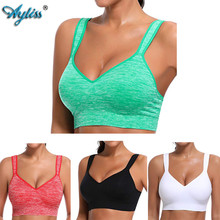 Ayliss latest 1pc High Impact Green Racerback Sports Bra Womens Wire Free Padded Cup Active Gym Tank Top