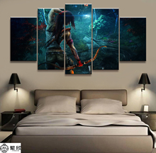 Home Decor 5 Piece Tomb Raider Lara Crof Game Canvas Printed Wall Pictures For Living Room Poster Wholesale