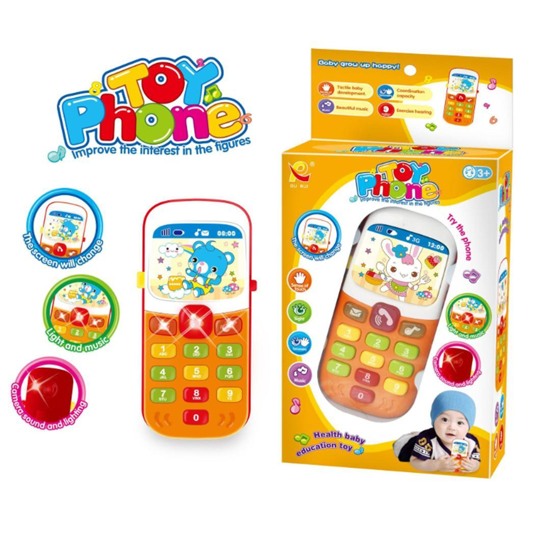 Children Music Electronic Mobile Phone Toy Educational Learning Toy Simulation 3 Years 2 x AAA Batteries Not Included