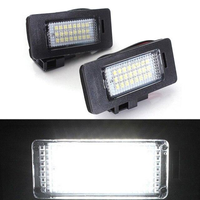 Super White Error Free LED License Plate Lights For Audi B8 A4 A5 S4 S5 Q5 TT