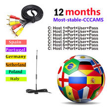 Get more info on the 1year cccam Europe 7 Clines hd ccam 1 Year for Spain Italy Germany Poland Portugal cline server Support DVB-S2 Satelite Receiver