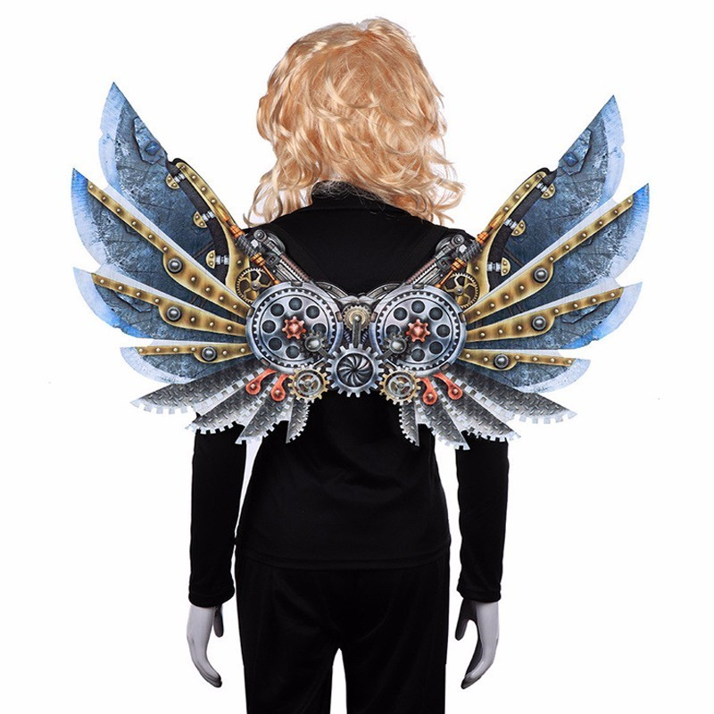 Gear Steam Punk Decoration Wings Adult Kids Carnival Party Vintage Costume Accessories Christmas Halloween Cosplay Wings Props