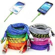 цена на Micro USB ,1M Braided Fabric Micro USB Data&Sync Charger Cable Cord for Samsung Phone