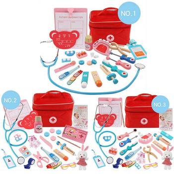 Children Pretend Doctor Toy Set Durable Nurse Injection Tool Wooden Simulation Medicine Box Sturdy Gift Case - discount item  21% OFF Pretend Play