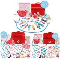 Kinderen Pretend Doctor Toy Set Duurzaam Verpleegkundige Injectie Tool Houten Simulatie Geneeskunde Box Stevige Gift Case