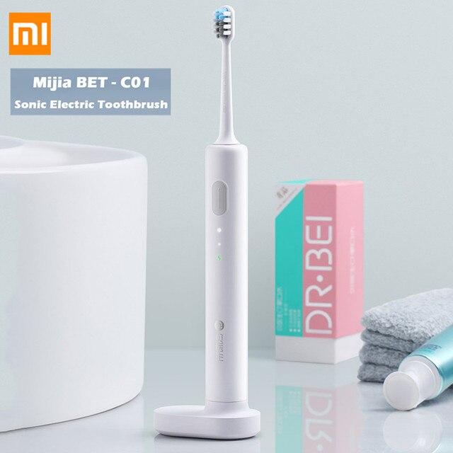 Xiaomi Mijia BET-C01 Sonic cepillo de dientes eléctrico impermeable recargable cepillo de dientes eléctrico Super luz cepillos de dientes de Youpin