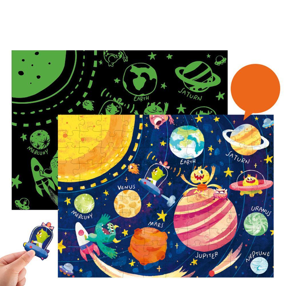 LeadingStar 96 шт. детские игрушки ноктилюциенс Пазлы игры раннее Когнитивное обучение карточка дети обучающая детская игрушка для подарка забав