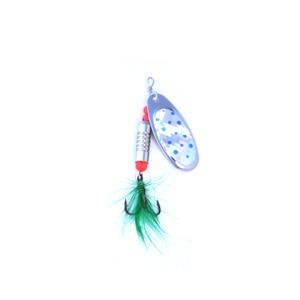 Image 4 - OLOEY 5 7g Câu Cá Thìa Mồi Kim Loại Màu Bạc Mồi Con Quay SpoonFishing Dụ Mồi Kim Sa Lấp Lánh với Lông Vũ Bass treble