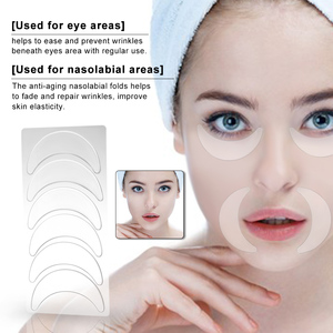 Image 2 - Anti Wrinkle Facial Pad Set Reusable Medical Grade Silicone Nasolabial Folds Anti aging Mask Prevent Face Wrinkle