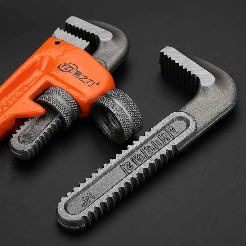 Adjustable Plumbers Pipe Wrench Tool Carbon Steel Head Malleable Iron  Handle Plumbing water Pliers universal torque grip