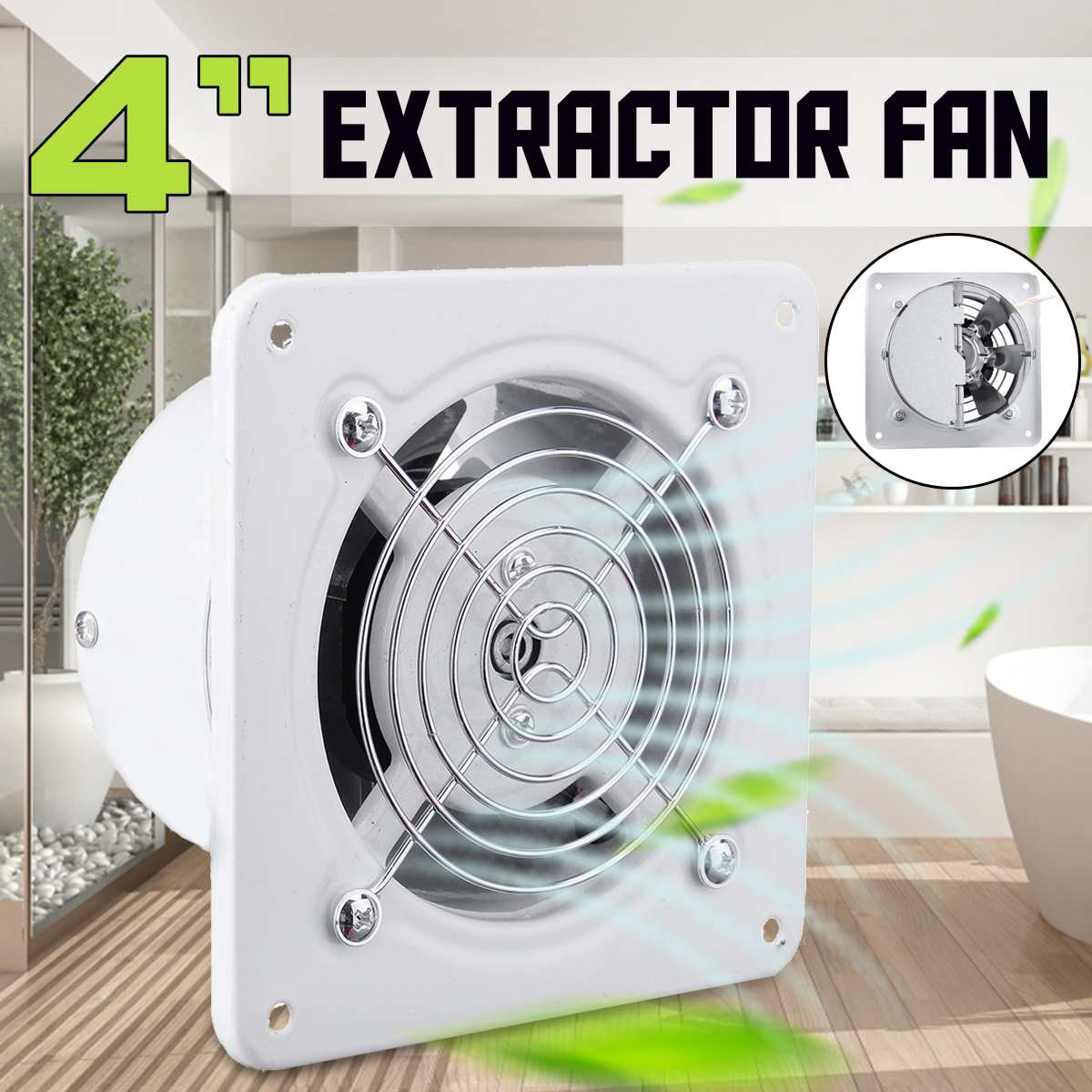 25W 4 220V Home Bathroom Kitchen Toilet Low Noise Ventilator Air Vents Exhaust Fan Wall Window Extractor Ventilation Fan25W 4 220V Home Bathroom Kitchen Toilet Low Noise Ventilator Air Vents Exhaust Fan Wall Window Extractor Ventilation Fan