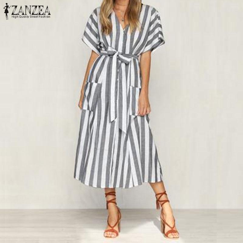 Nkandby Plus Size Women Dress 2019 Summer Korean Loose Short Sleeve Plaid Patchwork Pattern Oversized Femininas Vestidos Ruffles Women's Clothing