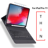 Case For iPad Pro 11 2018 A1934 A1980 A2013 New Ultra thin Wireless Bluetooth Keyboard Case Cover For iPad 11 2018 + Gift