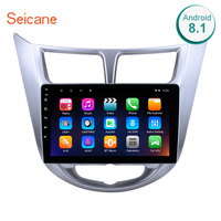 Seicane 2 Din Android 8.1 Car Multimedia Player For Hyundai Verna 2011 2012 2013 9 Inch Bluethooth Wifi GPS Navigation RAM 1GB