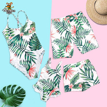Mother And Daughter Swimwear Mommy And Me Bikini Swimsuit Family Look Matching Outfits Dad Son Shorts Summer Men Boy Clothing leopard swimsuits family matching swimwear mother daughter bikini dad son swim trunks mommy and me family outfits look e0200