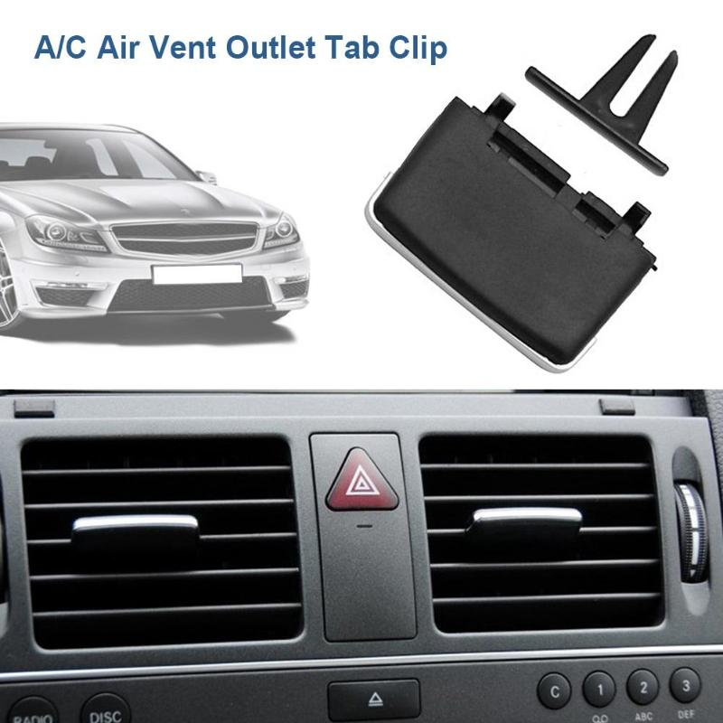 Upgraded Front Row Fresh Air Grille Clips Air Conditioning Vent Outlet Tab Clip For Mercedes Benz Benz W204 C260 C300 GLK200 GLK300 GL Auto Car Front Air Conditioning A//C Air Vent Outlet Tab Clip