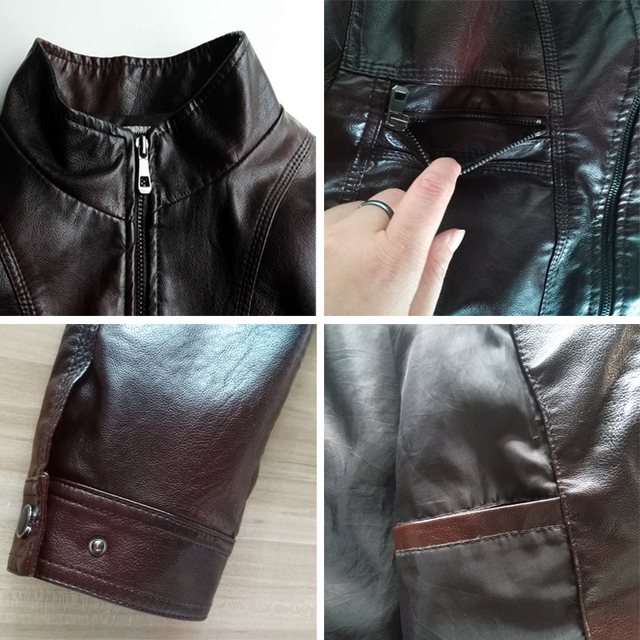 Luxury Fashion Style Faux Leather Coat Men High Quality PU Jacket Leather Male Leather Clothing Veste en cuir  jaqueta de couro