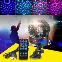 Mini Luz Do Estágio LED RGB 3 W Controles Remotos Lâmpada Show de Luz Bola de Discoteca Luzes Do Partido LED Efeito de Iluminação de Palco alimentado Por USB DV 5 V|Efeito de Iluminação de palco|Luzes e Iluminação -
