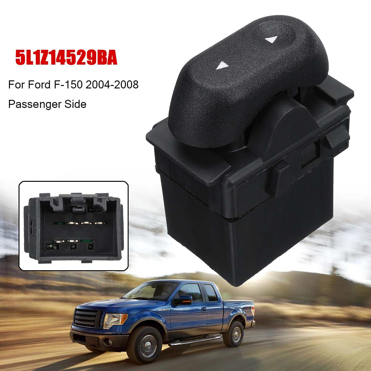 Electric Power Window Control Switch Passenger Side 5L1Z14529BA /5L1Z-14529-BA For <font><b>Ford</b></font> <font><b>F150</b></font> 2004 2005 <font><b>2006</b></font> 2007 2008 image