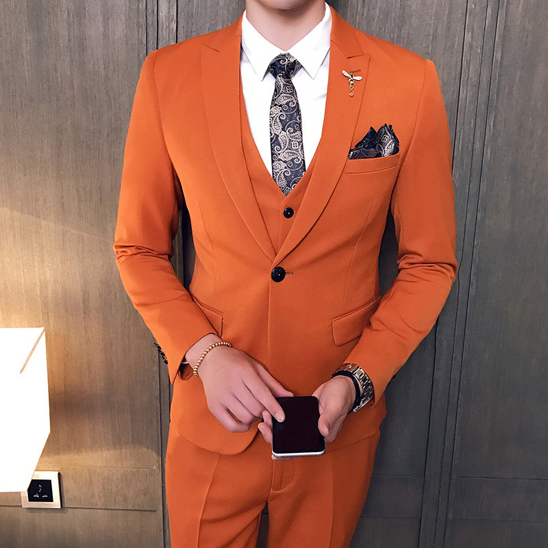 Hommes de Costume Slim Fit Affaires Mâle Costumes Angleterre Style Smokings De Mariage Grooms Man Partie Robe Costumes 3 Pièces Ensemble