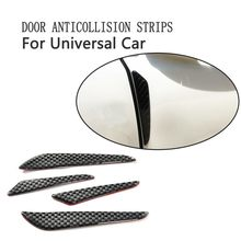 Auto Styling Deur Koolstofvezel Anti-collision Rubberen Strip Stickers Voor Bmw Ford Focus 2 Golf Audi(China)