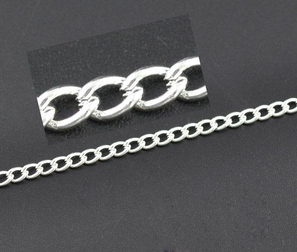 Круглые цепи с серебряным покрытием 10 м, 5x3,3 мм (B09582) chain chain toolchain of flowers blog   АлиЭкспресс