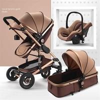 Детская коляска 3 в 1, люлька для безопасности автомобиля, складная коляска, коляска, лежащая, спальная корзина, для детей 0 4 лет, 4 сезона