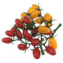 Gresorth 2 Pack Lifelike Artificial Cherry Tomatoes Fake Tomato for Home House Kitchen Cabinet Decoration