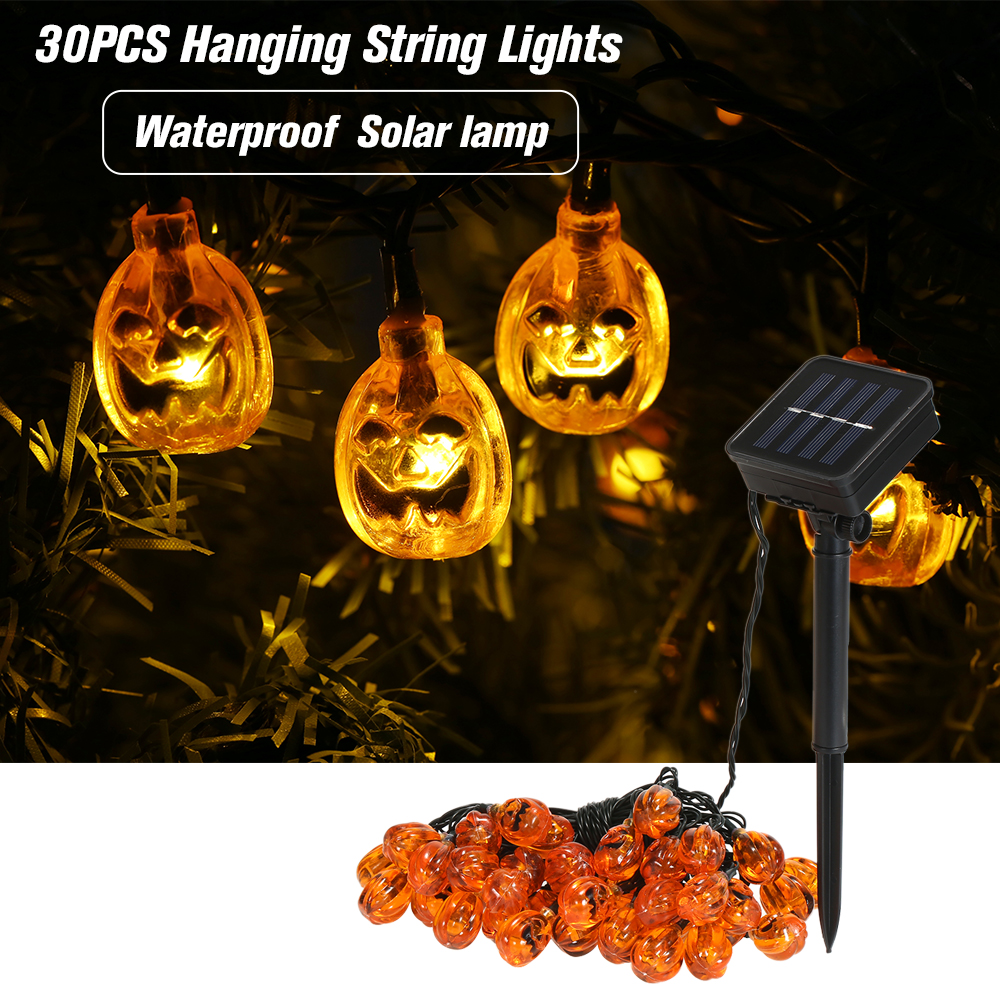 Access Control Kits Brilliant Halloween Pumpkin String Lights Solar Led String Lamps Holiday Party Decoration Lights For Courtyards,shop Windows,stores,trees Access Control