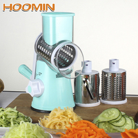HOOMIN Kitchen Tools Manual Rotating Grater Potato Carrot Chopper Vegetable Fruit Cheese Cutter Slicer Kitchen Gadget