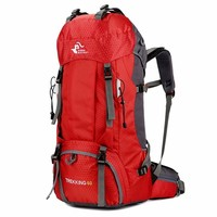Outdoor 60L Waterproof Climbing Hiking Backpack Rain Cover Bag 50L Camping Trekking Mountaineering Sport Men Women Rucksack