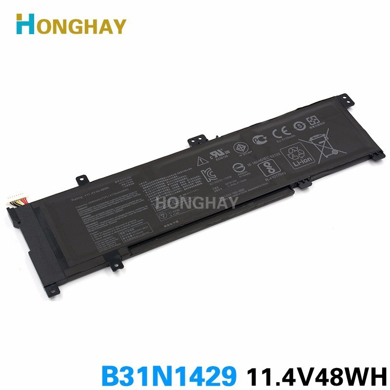HONGHAY B31N1429 Laptop Battery For ASUS A501L A501LX A501LB5200 K501U K501UX K501UB K501LB K501LX 11.4V 48WH 4240MAH