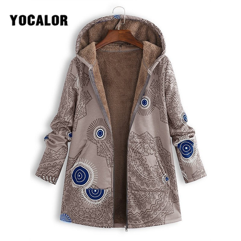 2019 Winter Autumn Quilted Loose Long Coat Female Women Parka Manteau Femme Hiver Hood Anorak 5xl Large Sizes Flower Floral Fur